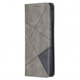 Geometric Book Case Samsung Galaxy S21 Ultra Hoesje - Grijs