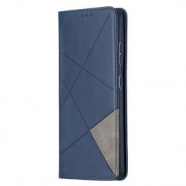 Geometric Book Case Samsung Galaxy S21 Ultra Hoesje - Blauw