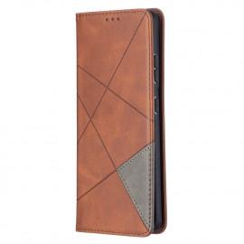 Geometric Book Case Samsung Galaxy S21 Ultra Hoesje - Donkerbruin