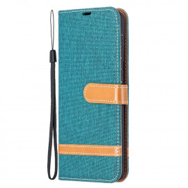 Denim Book Case Samsung Galaxy S21 Plus Hoesje - Groen