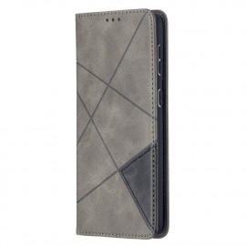 Geometric Book Case Samsung Galaxy S21 Plus Hoesje - Grijs