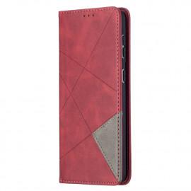 Geometric Book Case Samsung Galaxy S21 Plus Hoesje - Rood