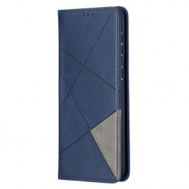 Geometric Book Case Samsung Galaxy S21 Plus Hoesje - Blauw