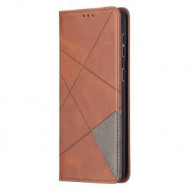Geometric Book Case Samsung Galaxy S21 Plus Hoesje - Donkerbruin