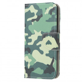 Book Case Samsung Galaxy A12 Hoesje - Camouflage