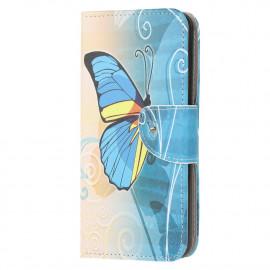 Book Case Samsung Galaxy A12 Hoesje - Blauwe Vlinder