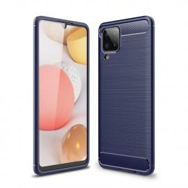Armor Brushed TPU Samsung Galaxy A12 Hoesje - Blauw