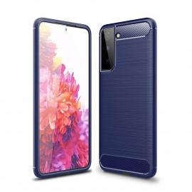 Armor Brushed TPU Samsung Galaxy S21 Hoesje - Blauw