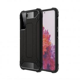 Armor Hybrid Samsung Galaxy S21 Plus Hoesje - Zwart