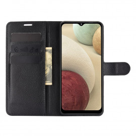 Book Case Samsung Galaxy A12 Hoesje - Zwart