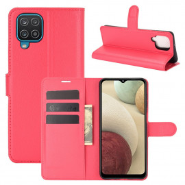 Book Case Samsung Galaxy A12 Hoesje - Rood