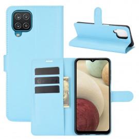 Book Case Samsung Galaxy A12 Hoesje - Lichtblauw