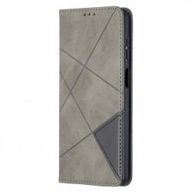 Geometric Book Case Samsung Galaxy A12 Hoesje - Grijs