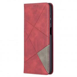 Geometric Book Case Samsung Galaxy A12 Hoesje - Rood