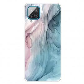 Marmer TPU Samsung Galaxy A12 Hoesje - Pink / Blauw