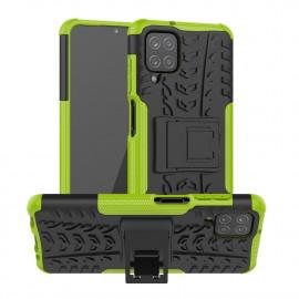Rugged Kickstand Samsung Galaxy A12 Hoesje - Groen