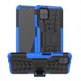 Rugged Kickstand Samsung Galaxy A12 Hoesje - Blauw