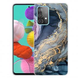Marmer TPU Samsung Galaxy A52 / A52s Hoesje - Blauw / Goud