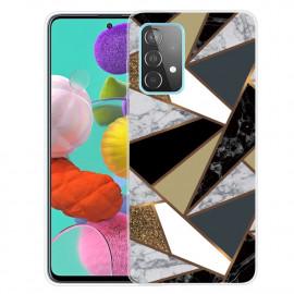 Marmer TPU Samsung Galaxy A72 Hoesje - Marmer / Goud