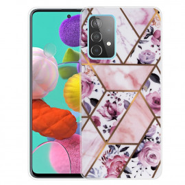 Marmer TPU Samsung Galaxy A72 Hoesje - Roze / Paars