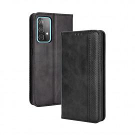 Vintage Book Case Samsung Galaxy A52 / A52s Hoesje - Zwart