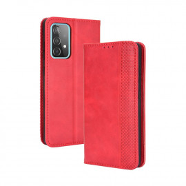 Vintage Book Case Samsung Galaxy A52 / A52s Hoesje - Rood