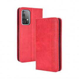 Vintage Book Case Samsung Galaxy A52 Hoesje - Rood