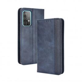 Vintage Book Case Samsung Galaxy A52 Hoesje - Blauw
