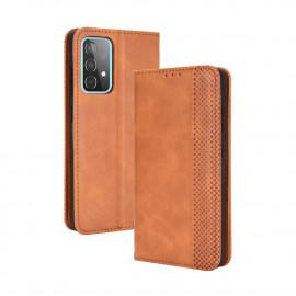 Vintage Book Case Samsung Galaxy A52 Hoesje - Bruin