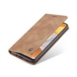 CaseMe Book Case Samsung Galaxy S21 Plus Hoesje - Bruin