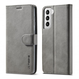 Luxe Book Case Samsung Galaxy S21 Hoesje - Grijs
