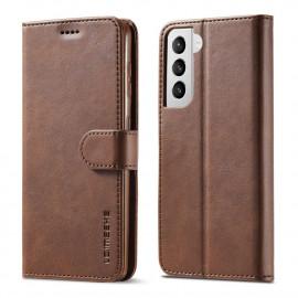 Luxe Book Case Samsung Galaxy S21 Hoesje - Donkerbruin