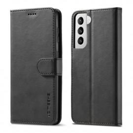Luxe Book Case Samsung Galaxy S21 Plus Hoesje - Zwart