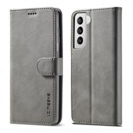 Luxe Book Case Samsung Galaxy S21 Plus Hoesje - Grijs