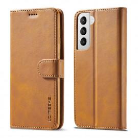 Luxe Book Case Samsung Galaxy S21 Plus Hoesje - Bruin