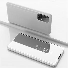 Mirror View Case Samsung Galaxy A52 / A52s Hoesje - Zilver