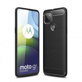 Armor Brushed TPU Motorola Moto G9 Power Hoesje - Zwart