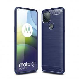 Armor Brushed TPU Motorola Moto G9 Power Hoesje - Blauw