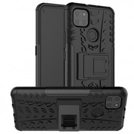 Rugged Kickstand Motorola Moto G9 Power Hoesje - Zwart