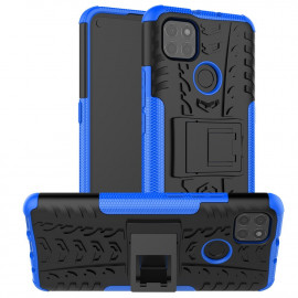 Rugged Kickstand Motorola Moto G9 Power Hoesje - Blauw