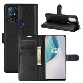 Book Case OnePlus Nord N10 Hoesje - Zwart