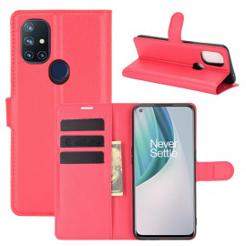 Book Case OnePlus Nord N10 Hoesje - Rood