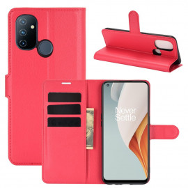 Book Case OnePlus Nord N100 Hoesje - Rood