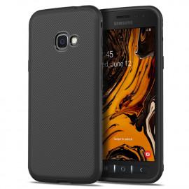 Armor Brushed TPU Samsung Galaxy Xcover 4S Hoesje - Zwart