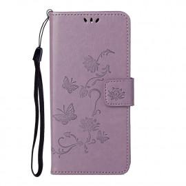 Bloemen Book Case Nokia 5.4 Hoesje - Paars