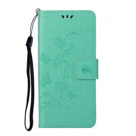 Bloemen Book Case Nokia 5.4 Hoesje - Cyan