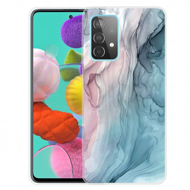Marmer TPU Samsung Galaxy A32 4G Hoesje - Pink / Blauw