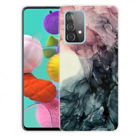 Marmer TPU Samsung Galaxy A32 4G Hoesje - Pink / Grijs