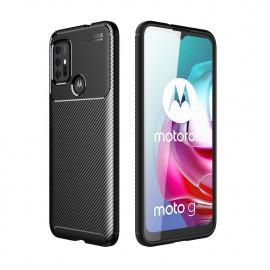 Carbon Fiber TPU Case Motorola Moto G10 / G20 / G30 Hoesje - Zwart
