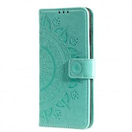 Bloemen Book Case Xiaomi Redmi 9 Hoesje - Groen